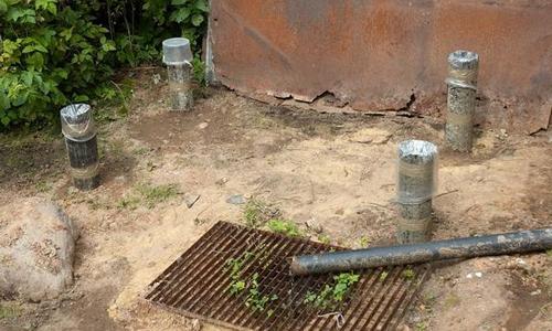 Фундамент под летний душ