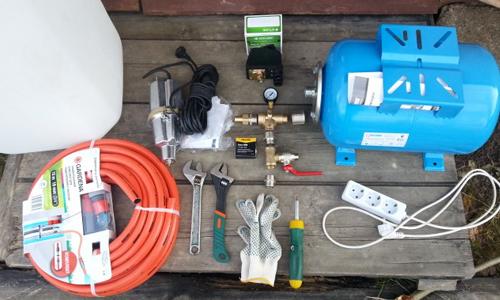 Инструменты для подключения насоса