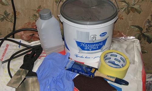 Материалы и инструменты для реставрации ванны