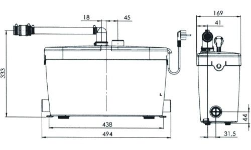 Размеры канализационного насоса