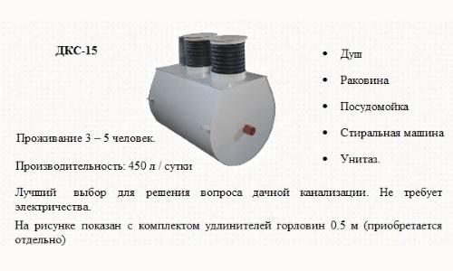 Описание ДКС-15