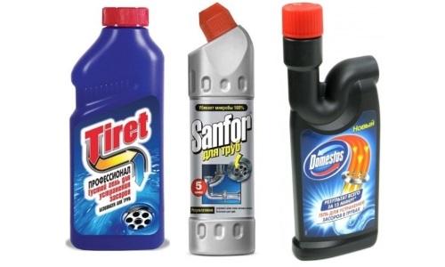 Химические средства для прочистки унитаза