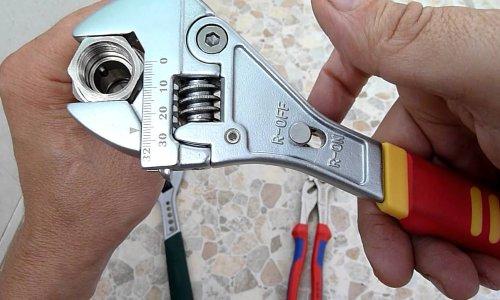 Разводной ключ для замены счетчика