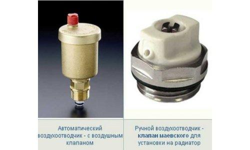 Автоматический и ручной краны Маевского