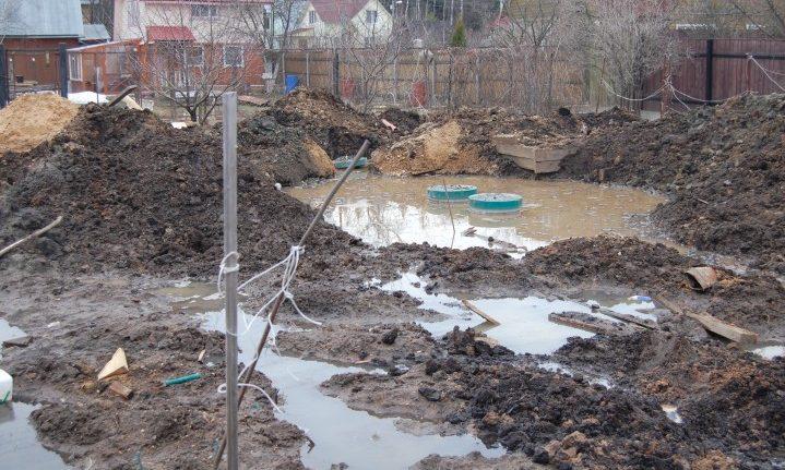 Проблема высокого уровня грунтовых вод на участке